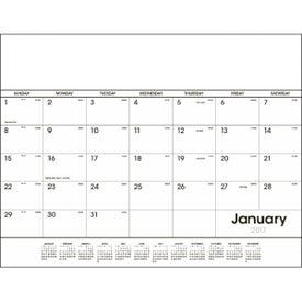 Branded Desk Pad Black and White Calendar