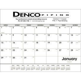 Desk Pad Black and White Calendar (2017)