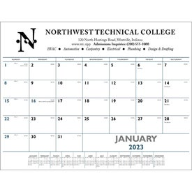 Desk Pad Calendar (Blue and Black, 2017)