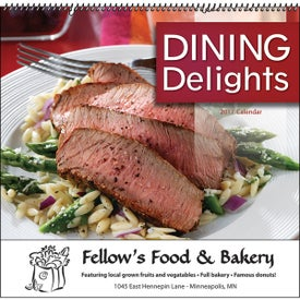 Dining Delights Wall Calendar for Advertising