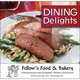 Dining Delights Wall Calendar (Stapled)