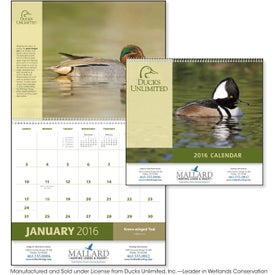 Advertising Ducks Unlimited Appointment Calendar