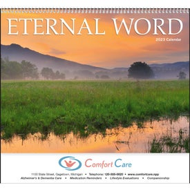 Imprinted Eternal Word Calendar - With Funeral Form