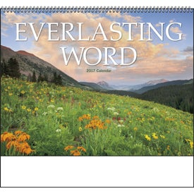 Imprinted Everlasting Word Calendar with Funeral Form