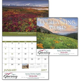 Everlasting Word Calendar with Funeral Form Branded with Your Logo
