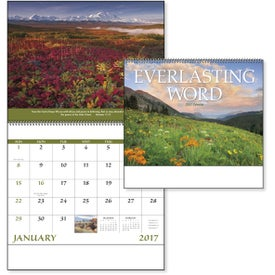 Monogrammed Everlasting Word Calendar with Funeral Form