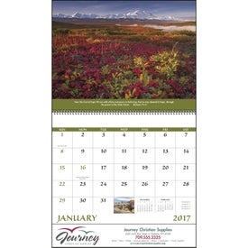 Everlasting Word Calendar with Funeral Form for Your Organization