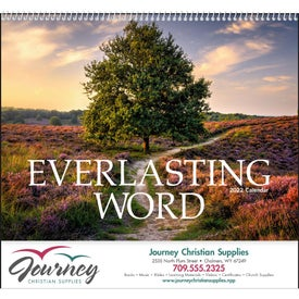Everlasting Word Calendar with Funeral Form Imprinted with Your Logo