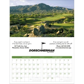 Executive Golf Calendar for Promotion