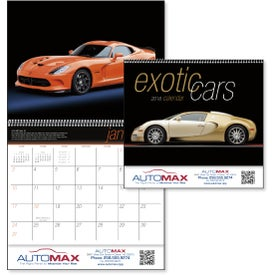 Imprinted Exotic Cars Appointment Calendar