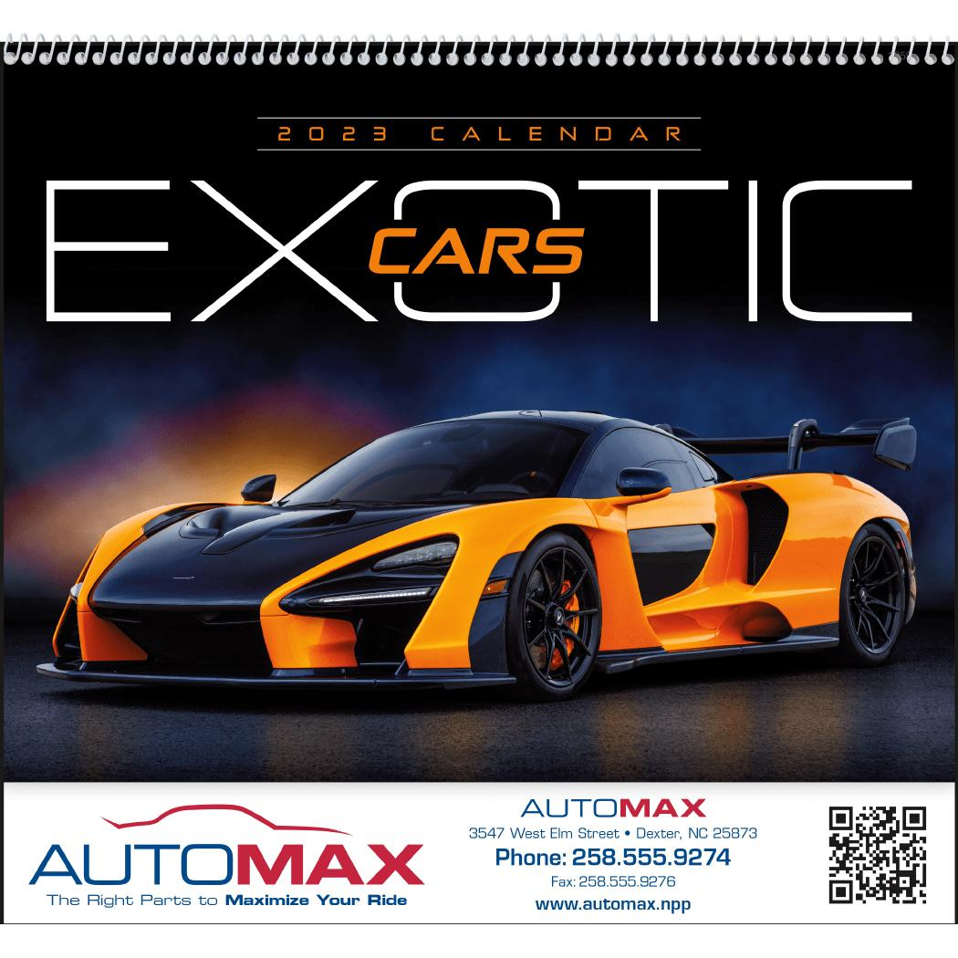 CLICK HERE To Order 2020 Exotic Cars Appointment Calendars