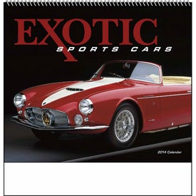 Exotic Sports Cars Spiral Calendar for Customization