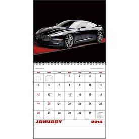 Personalized Exotic Sports Cars Spiral Calendar