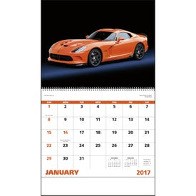 Custom Exotic Sports Cars Spiral Calendar