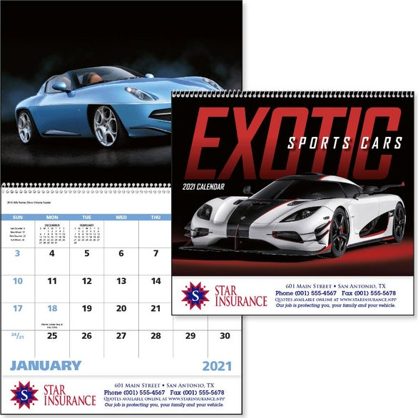 See Item Exotic Sports Cars Calendar