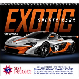 Exotic Sports Cars Spiral Calendar (2017)