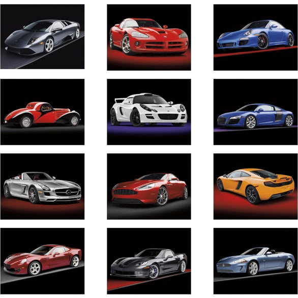 Luxury Sports Car Logos: Exotic Sports Cars Stapled Calendar (2016)