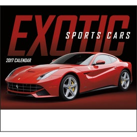 Exotic Sports Cars Stapled Calendar with Your Slogan