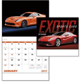 Exotic Sports Cars Stapled Calendar with Your Logo