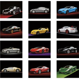 Printed Exotic Sports Cars Stapled Calendar