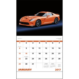 Exotic Sports Cars Stapled Calendar Branded with Your Logo
