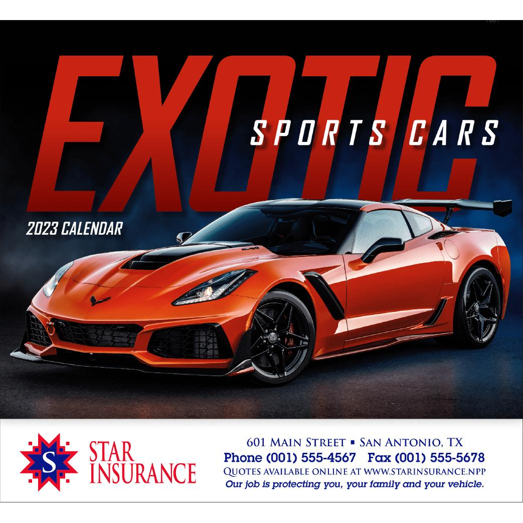 Promotional 2019 Exotic Sports Cars Stapled Calendars With Custom