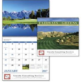 Branded Fairways and Greens Spiral Calendar