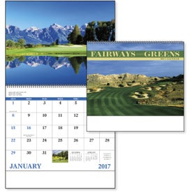Fairways and Greens Spiral Calendar for Customization