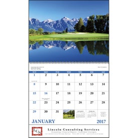 Fairways and Greens Spiral Calendar for Your Church