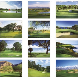 Fairways and Greens Spiral Calendar with Your Logo