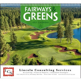 Fairways and Greens Spiral Calendar Printed with Your Logo
