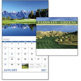 Fairways and Greens Stapled Calendar for your School