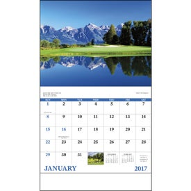 Personalized Fairways and Greens Stapled Calendar