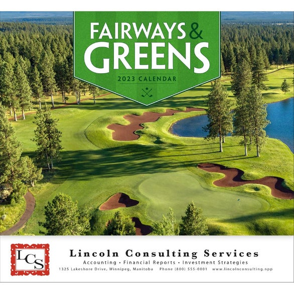 Fairways and Greens Stapled Calendar
