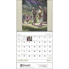 Imprinted Faithful Followers Spiral Calendar