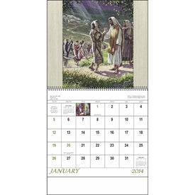 Monogrammed Faithful Followers Spiral Calendar