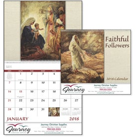 Custom Faithful Followers Spiral Calendar