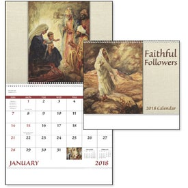 Branded Faithful Followers Spiral Calendar