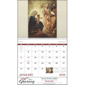Printed Faithful Followers Spiral Calendar