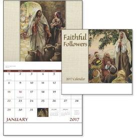 Faithful Followers Stapled Calendar Imprinted with Your Logo