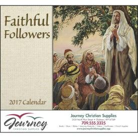Faithful Followers Stapled Calendar for Advertising