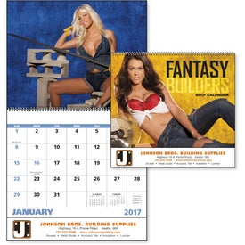 Personalized Fantasy Builders Spiral Calendar