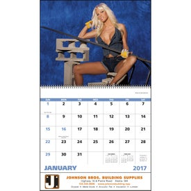 Fantasy Builders Spiral Calendar Branded with Your Logo
