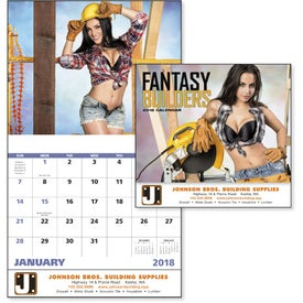 Fantasy Builders Stapled Calendar for Customization