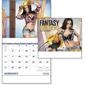 Customized Fantasy Builders Stapled Calendar