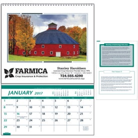 Customizable Farm Pocket Calendar for Promotion