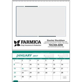 Monogrammed Customizable Farm Pocket Calendar