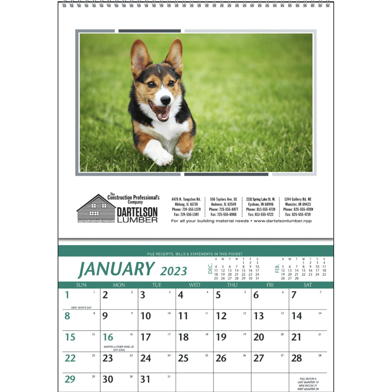 Pocket Calendar.Farm Pocket Calendar 2020