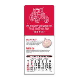 Farmers' Almanac Super Size Press N Stick Calendar