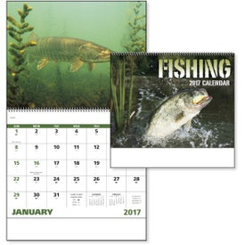 Monogrammed Fishing Spiral Calendar